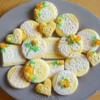 Yellow Roses and Lace: Cookies and Photo by Annelise Binois of Le Bois Meslé