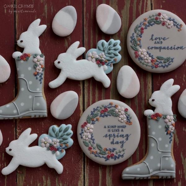 #2 - Bunny and Flower Cookies by mintlemonade (cookie crumbs)