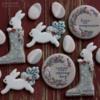 #2 - Bunny and Flower Cookies: By mintlemonade (cookie crumbs)