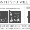 Julia's April 2021 Stencil of the Month Club Offering: Stencils Designed by Julia M Usher with Confection Couture Stencils; Graphic Design by Confection Couture Stencils