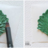 Step 1c - Pipe and Paint Leaves: Photos by Aproned Artist