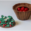 Step 3f - Fill Barrel with Candies: 3-D Cookie and Photo by Aproned Artist