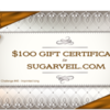 SugarVeil® Gift Certificate: Prize Donated by Julia M Usher; Graphic Design by Julia M Usher