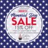 Memorial Day Stencil Sale Banner: Graphic Design by Confection Couture Stencils