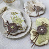 Cookies Using Embossed Royal Icing Transfers: Cookies and Photo by Julia M Usher