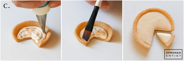 Step 2c - Pipe Pastry Cream