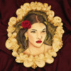 #2 - Handpainted Girl's Portrait with Overpiped Royal Icing Frame: By Mariana Meirelles