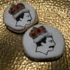 Freddie Mercury Cookies: Cookies and Photo by Heather Bruce Sosa