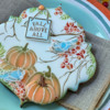 Closer View!: Cookie and Photo by Julia M Usher; Stencils Designed by Julia M Usher with Confection Couture Stencils