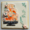Watercolor Wedding Favor: Cookie and Photo by Marilyn at Plaid Alchemy