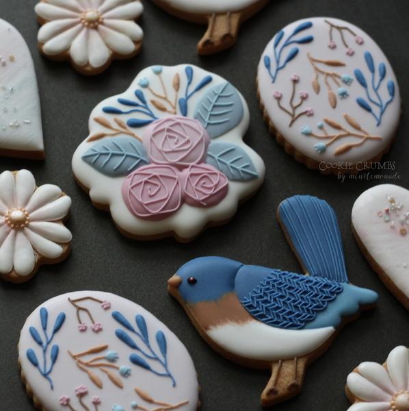 #1 - Birds and Flowers by mintlemonade (cookie crumbs)