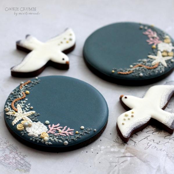 #2 - Summer Embroidery Cookies by mintlemonade (cookie crumbs)
