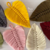 Colorful Macramé Leaves: Leaves and Photo by Manu