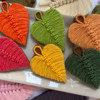 Colorful Macramé Leaf Cookies: Cookies and Photo by Manu