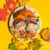 #10 - Fall Love Under Umbrella Cookie: By Olga Goloven