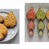 Steps 2h and 2i - Decorate Remaining Leaf Cookies: Design, Cookies, and Photos by Manu
