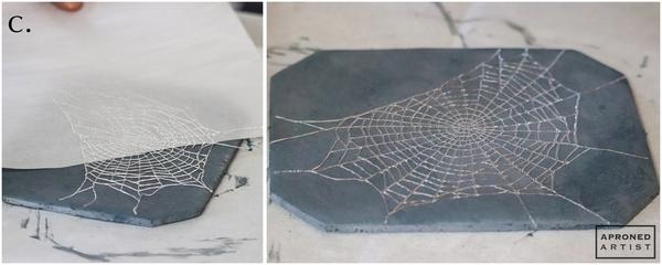 Step 3c - Attach Spiderweb to Cookie