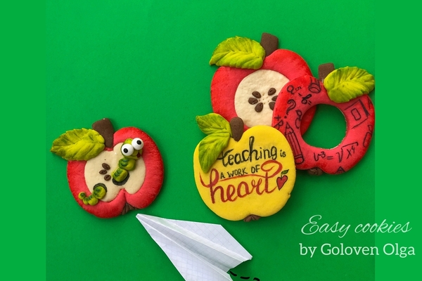 #4 - Merry Apples for Teacher & No Icing by Olga Goloven
