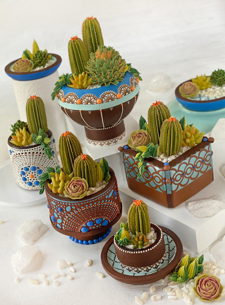 #7 - 3-D Cookie Container Garden by Julia M. Usher