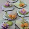 Lotus Flower and Marigold Cookies Made for Cookie Cruise: Cookies and Photo by Julia M Usher; Original Water Lily Tutorial by Manu