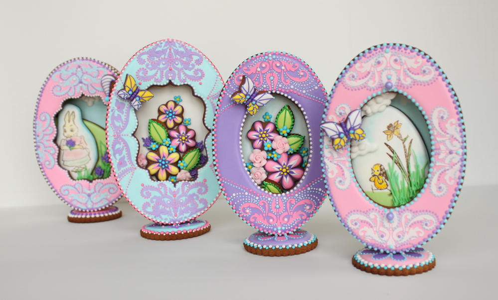 3-D Faberge Eggs by Julia M. Usher