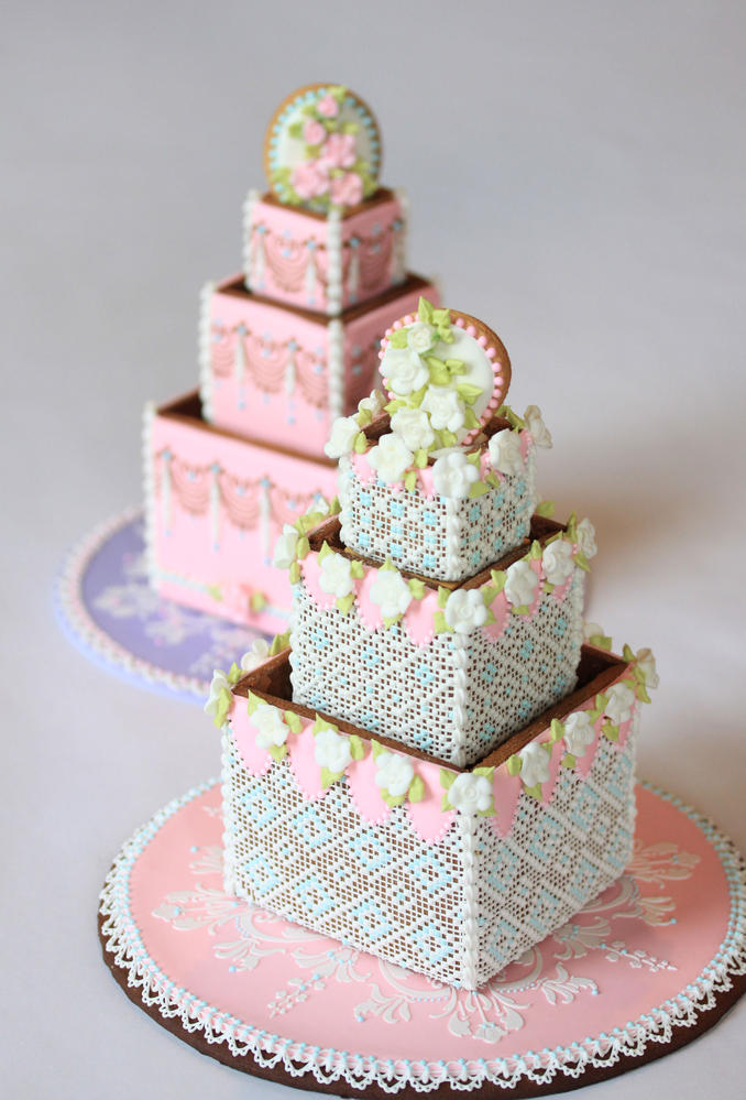 3-D Wedding Cake Cookies by Julia M. Usher | Cookie Connection