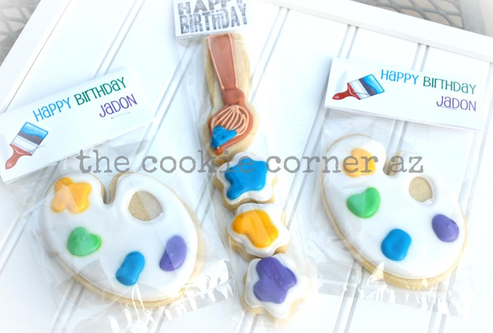 Art Party Cookie Favors
