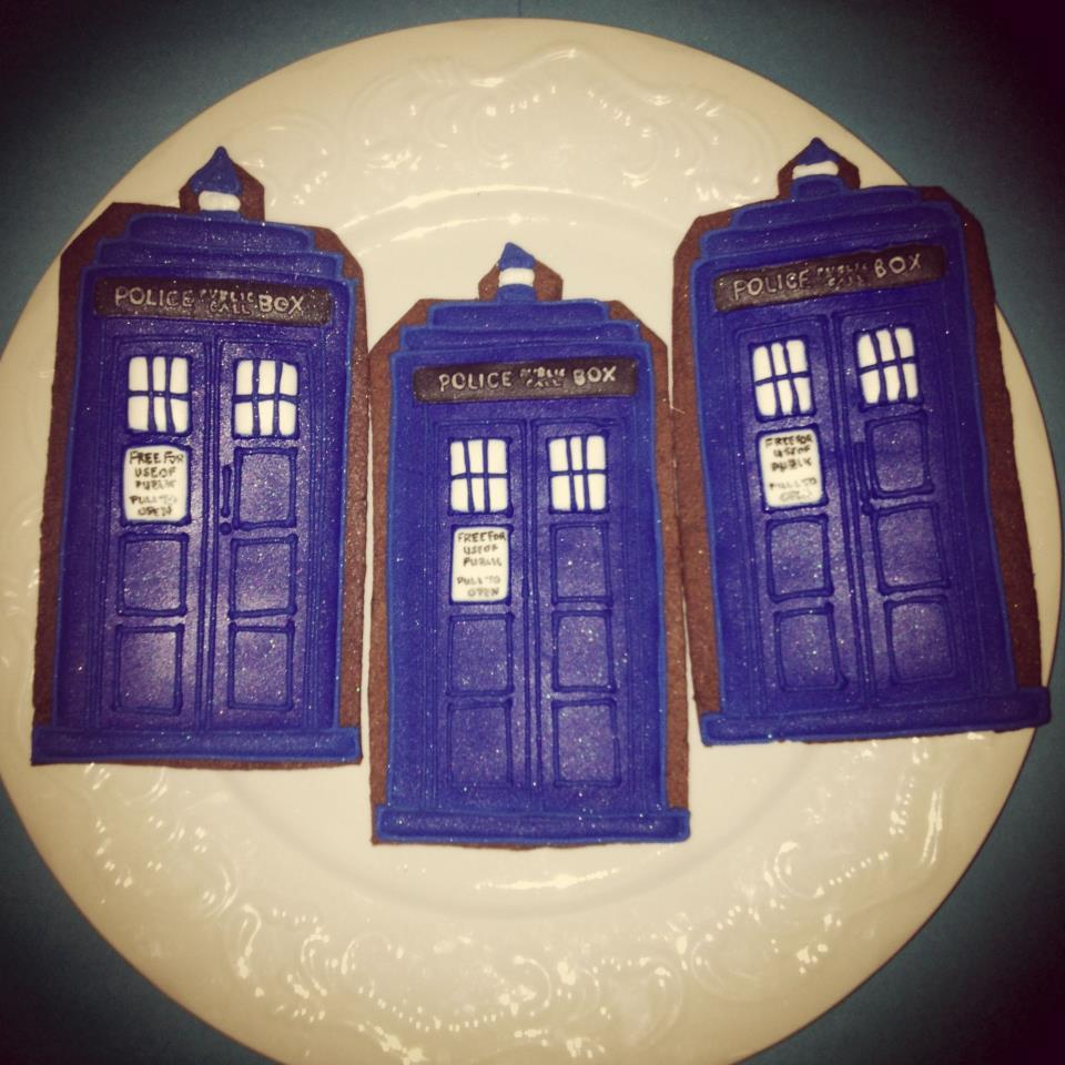 Doctor Who Tardis Cookies