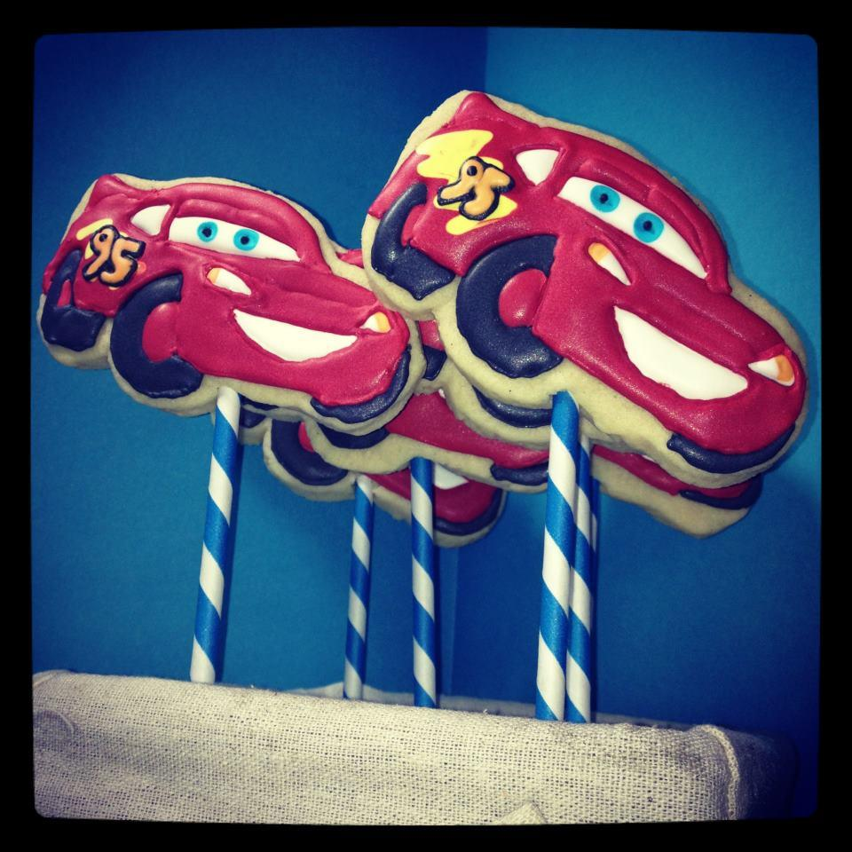 Lightning McQueen Cars Character on a Stick
