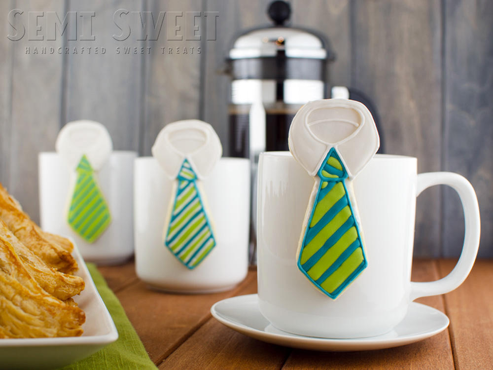 Father's Day Mug Hanging Necktie Cookies (1)