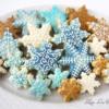 Celestial snowflake cookies
