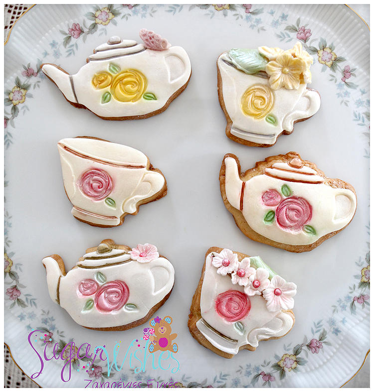 Blossom Sugar Art Cutter/ Stamped then Hand Decorated and Painted