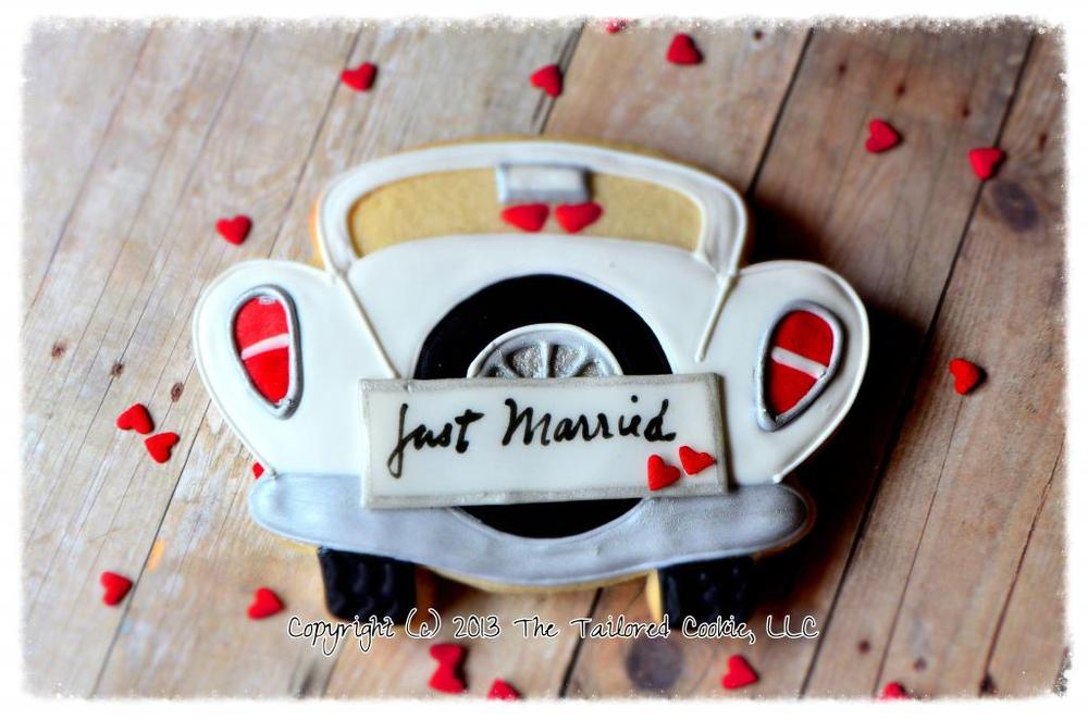 Antique Car - Just Married!
