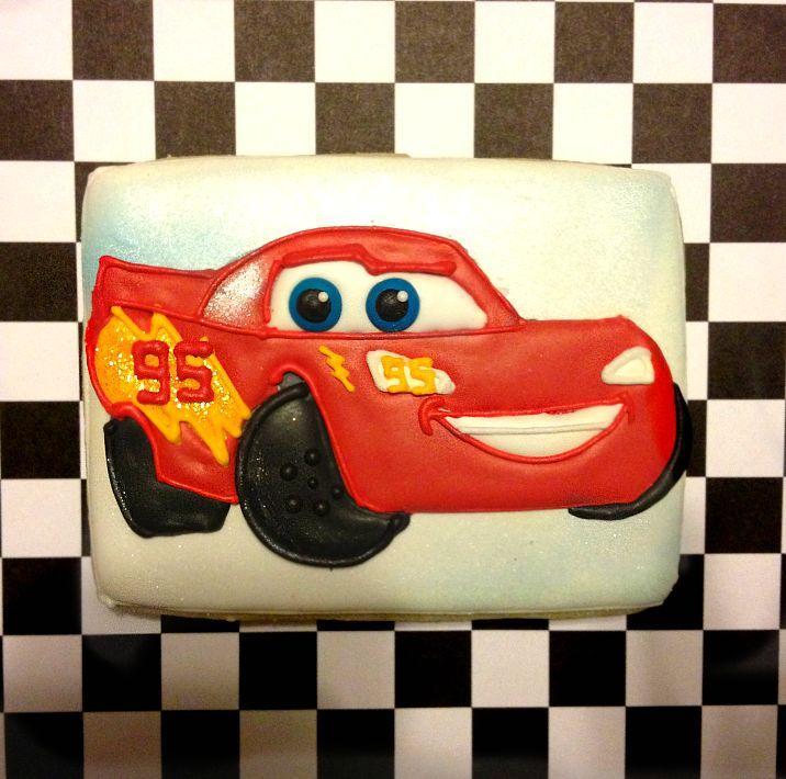 Lightning McQueen Cookie