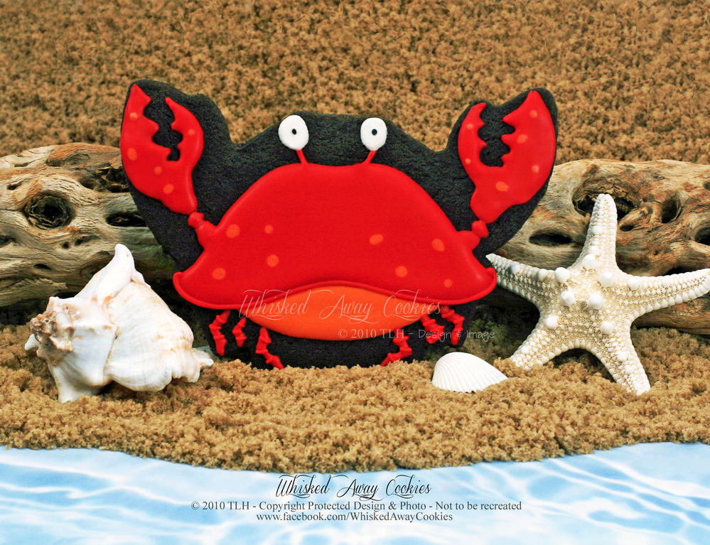 A Crabby Cookie ~ ©The Cookie Connoisseur/Whisked Away Cookies