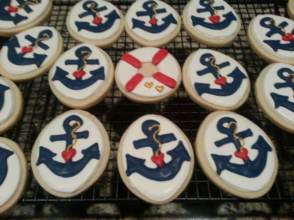 Anchors away cookies