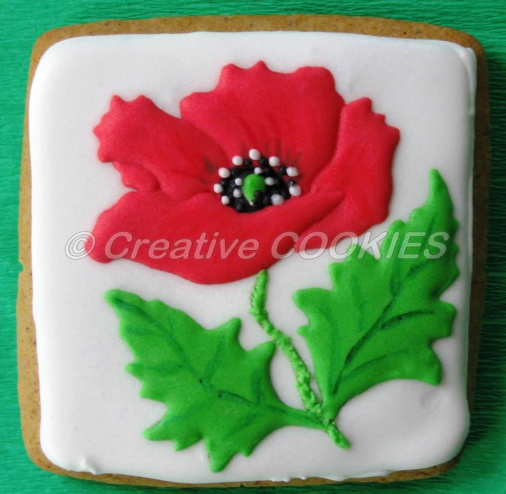 Poppy Flower Cookie Connection