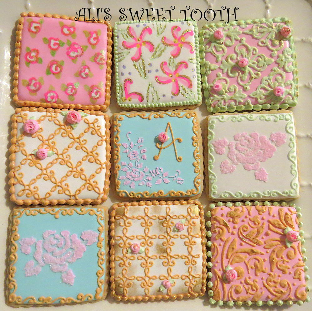Ali's sweet tooth Shabby Chic Cookies