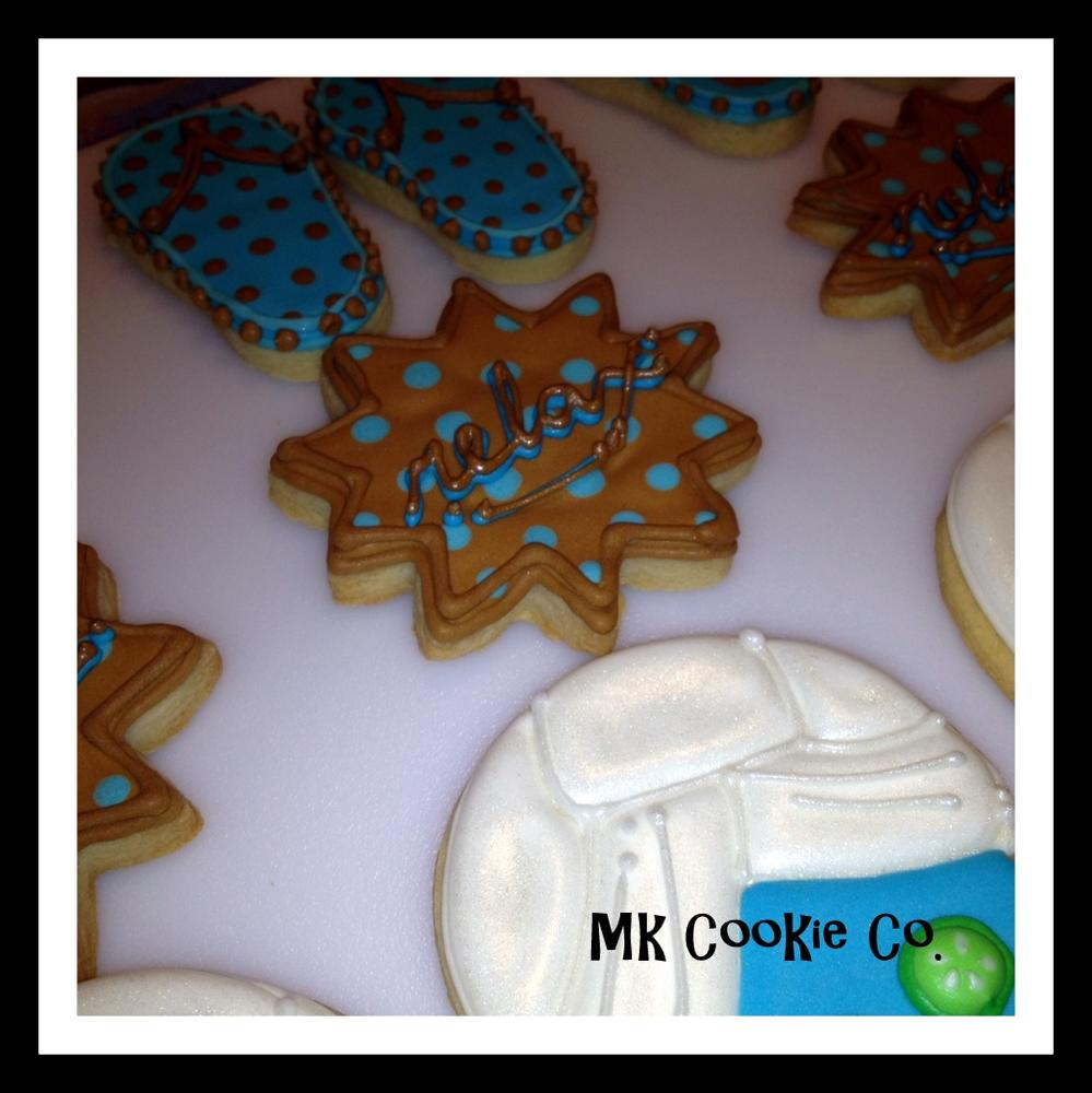 Spa themed cookies