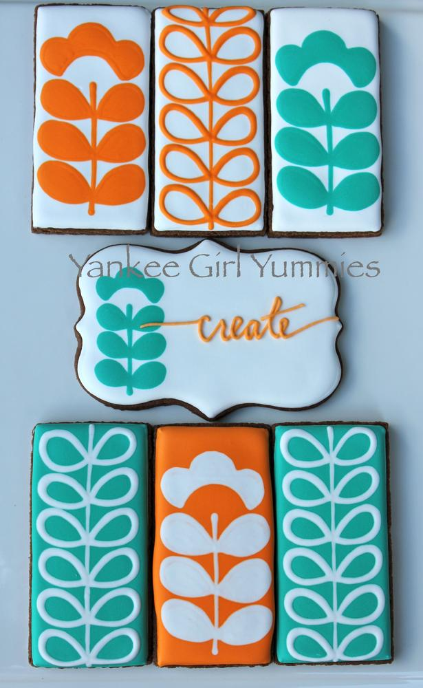 'Create' in Orange and Turquoise