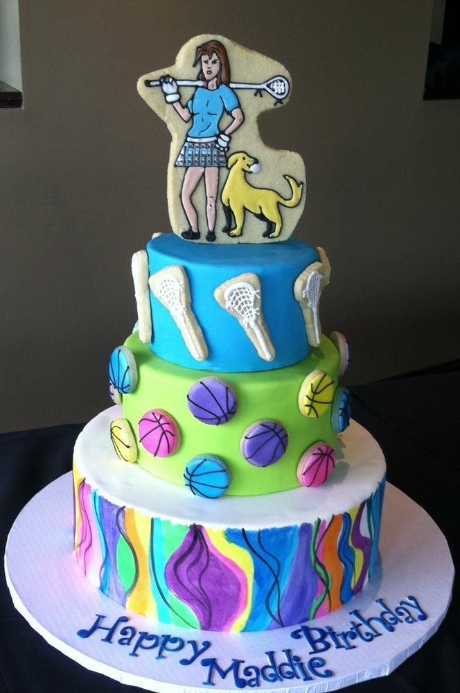 Lacrosse Birthday Cake
