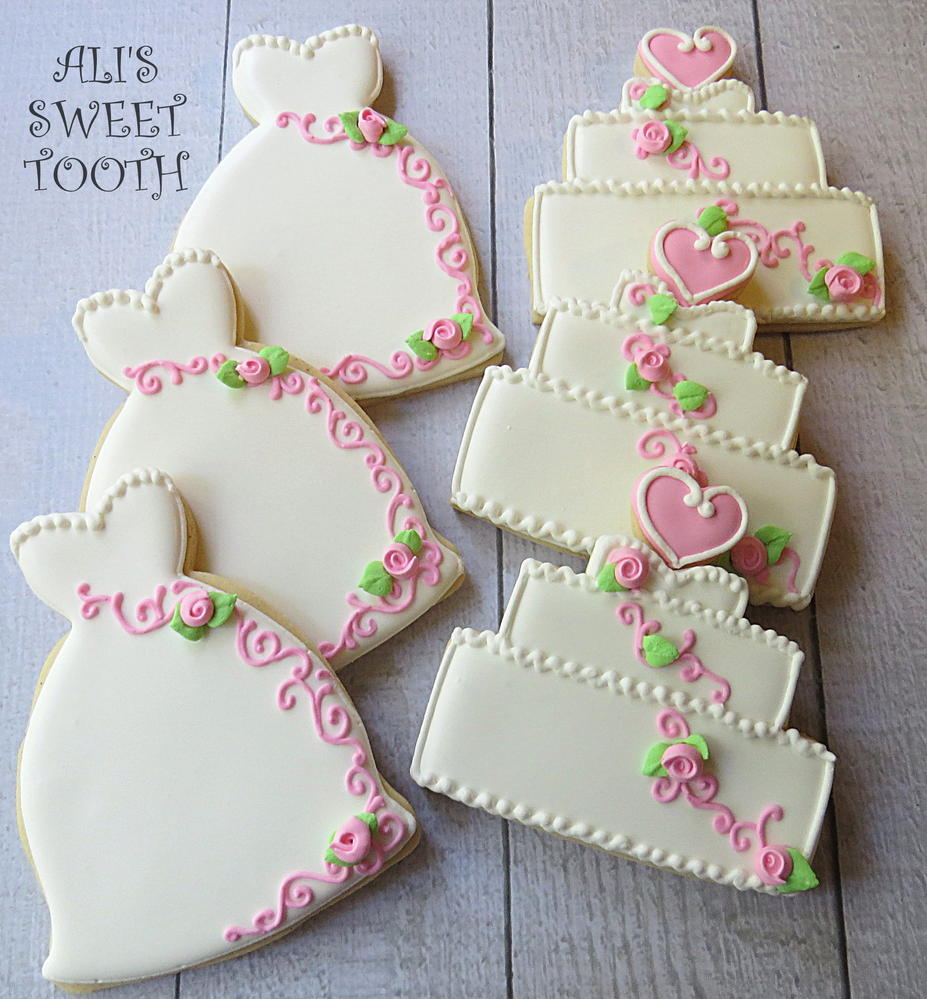 wedding cake cookie decorating ideas ali s sweet tooth shabby chic wedding cookies cookie 22236
