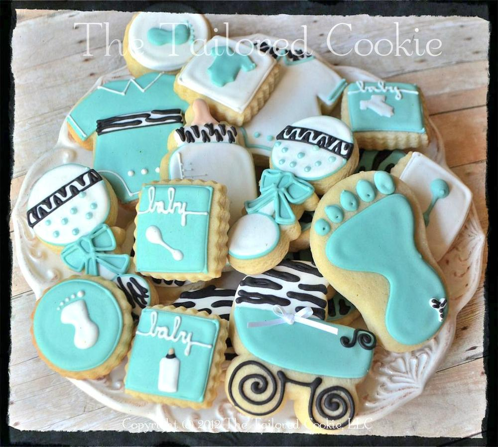 Zebra Baby Shower Favors by The Tailored Cookie | Cookie Connection