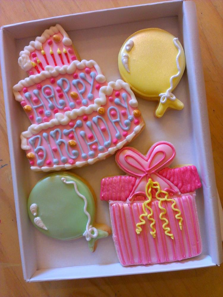 Happy Birthday Gift Box Cookie Connection