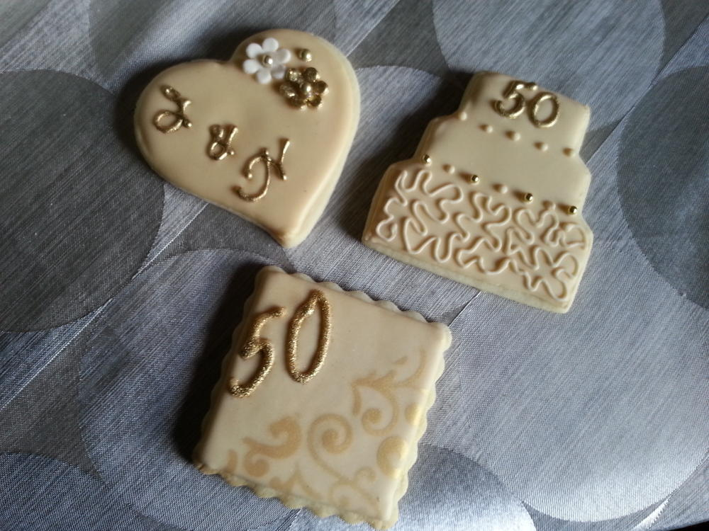Orted 50th Wedding Anniversary Cookies