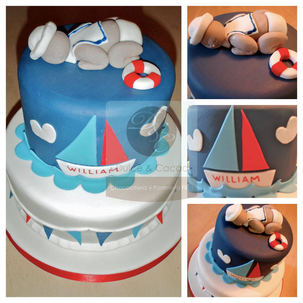 Nautical Baby Shower Cake Cookie Connection