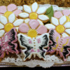 Deco butterflies and flowers