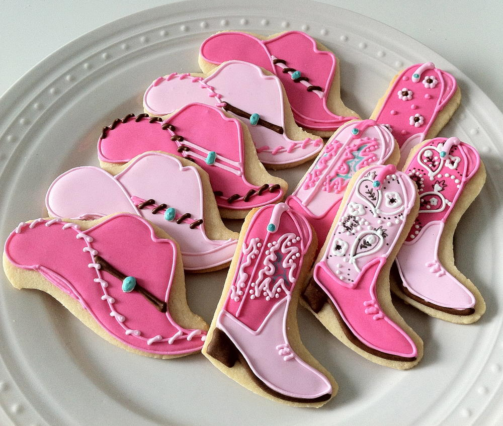 Girly Western Themed Cookies Cookie Connection