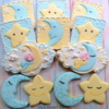 Moon and Stars Baby Shower Cookies