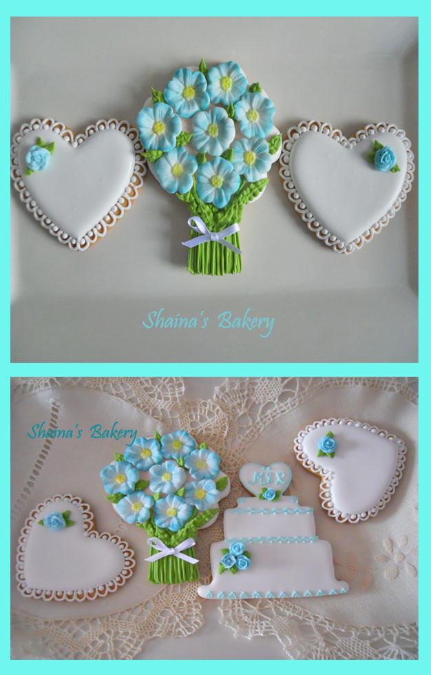 Turquoise Bridal Shower Cookies